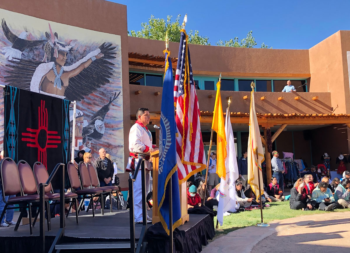 2019 Indigenous Peoples' Day celebration on traditional Pueblo territory at the Indian Pueblo Cultural Center in Albuquerque, New Mexico