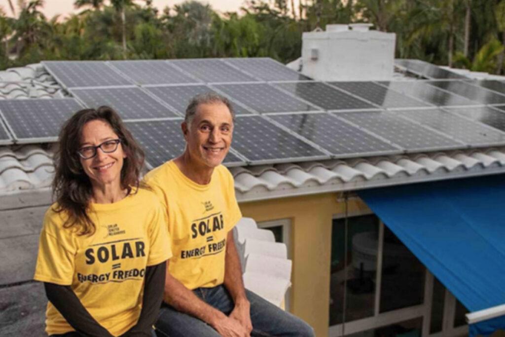 Simon Rose family with Florida solar home