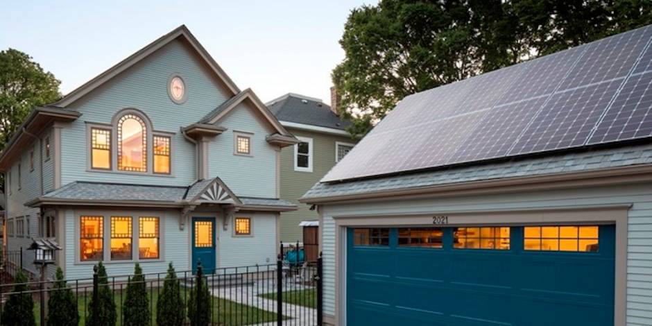 Rooftop solar homes