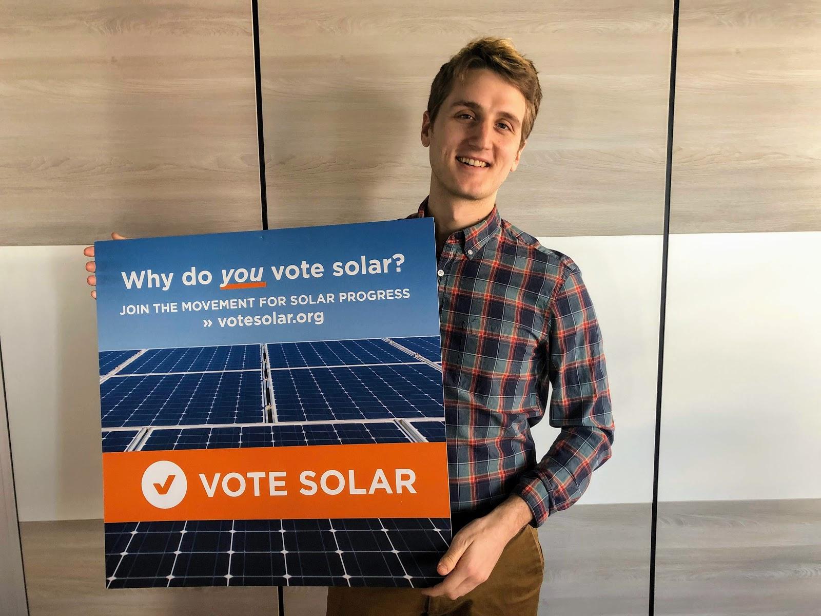 Tyler Vote Solar Sign