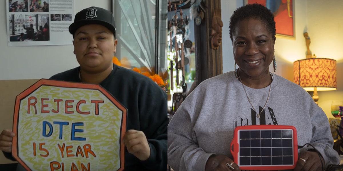 Environmental justice activists Nyasia Valadez & Shamayim Harris