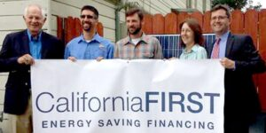 Assemblymember Nancy Skinner and RenewableFunding CEO Cisco DeVries at lauch of CaliforniaFirst