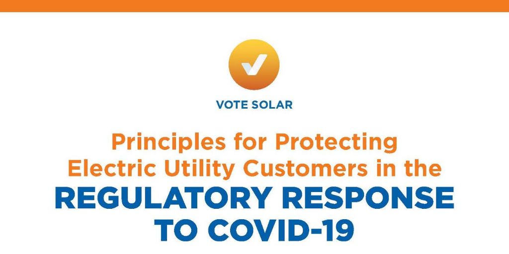 Principles for Protecting Electric Utility Customers in the Regulatory Response to COVID-19
