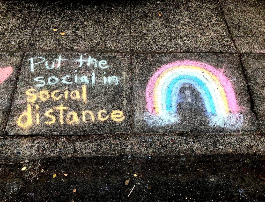 SOcial Distance Chalk