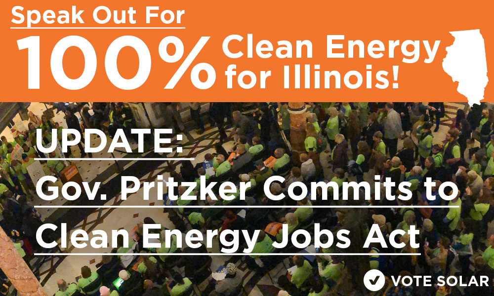 Gov. Pritzker Commits to Clean Energy Jobs Act