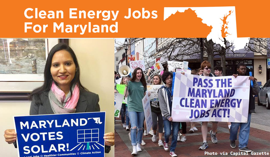 12,500+ Maryland Residents, Businesses Urge Support for Clean Energy Jobs Act