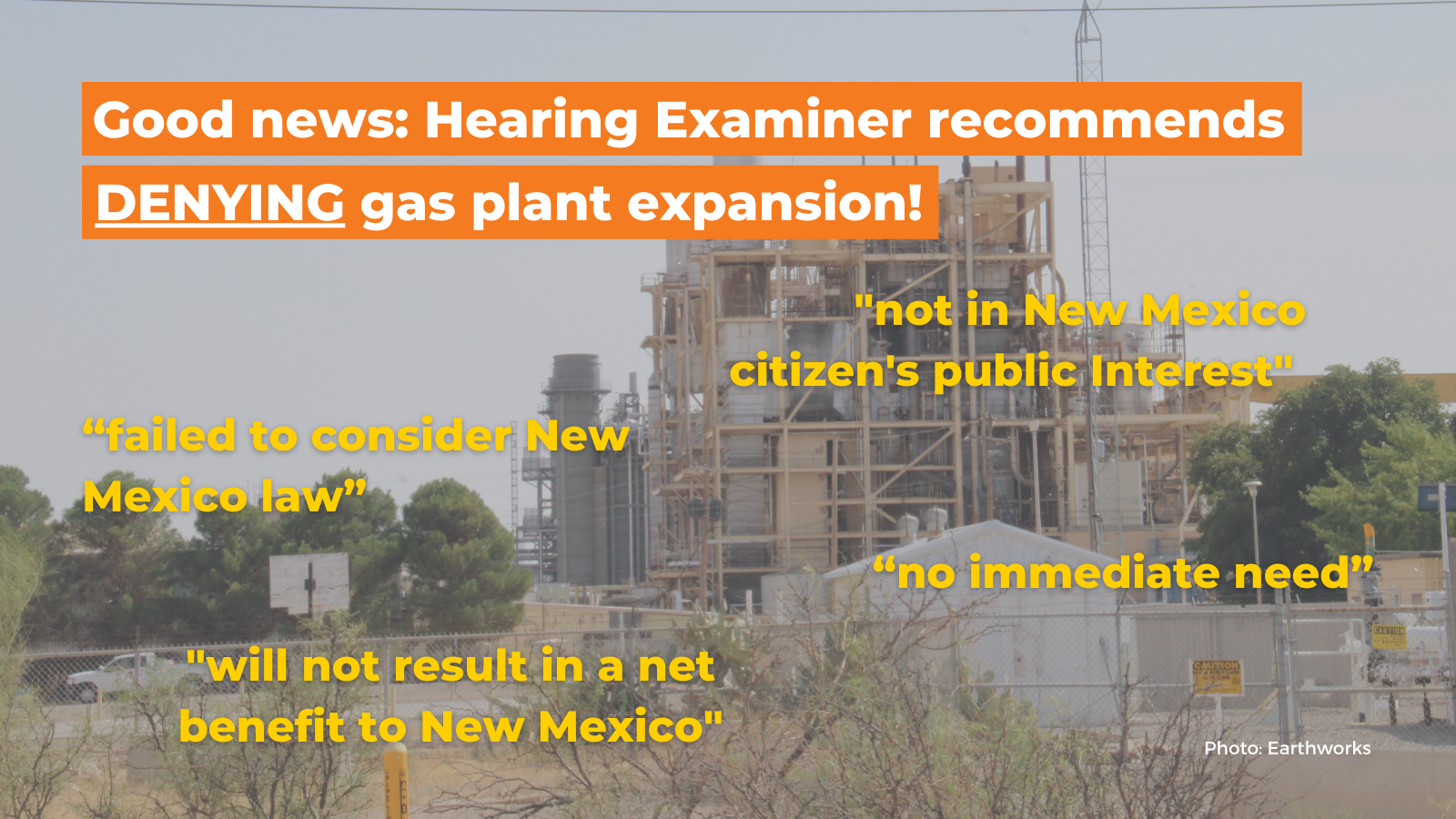 Good news on gas plant expansion