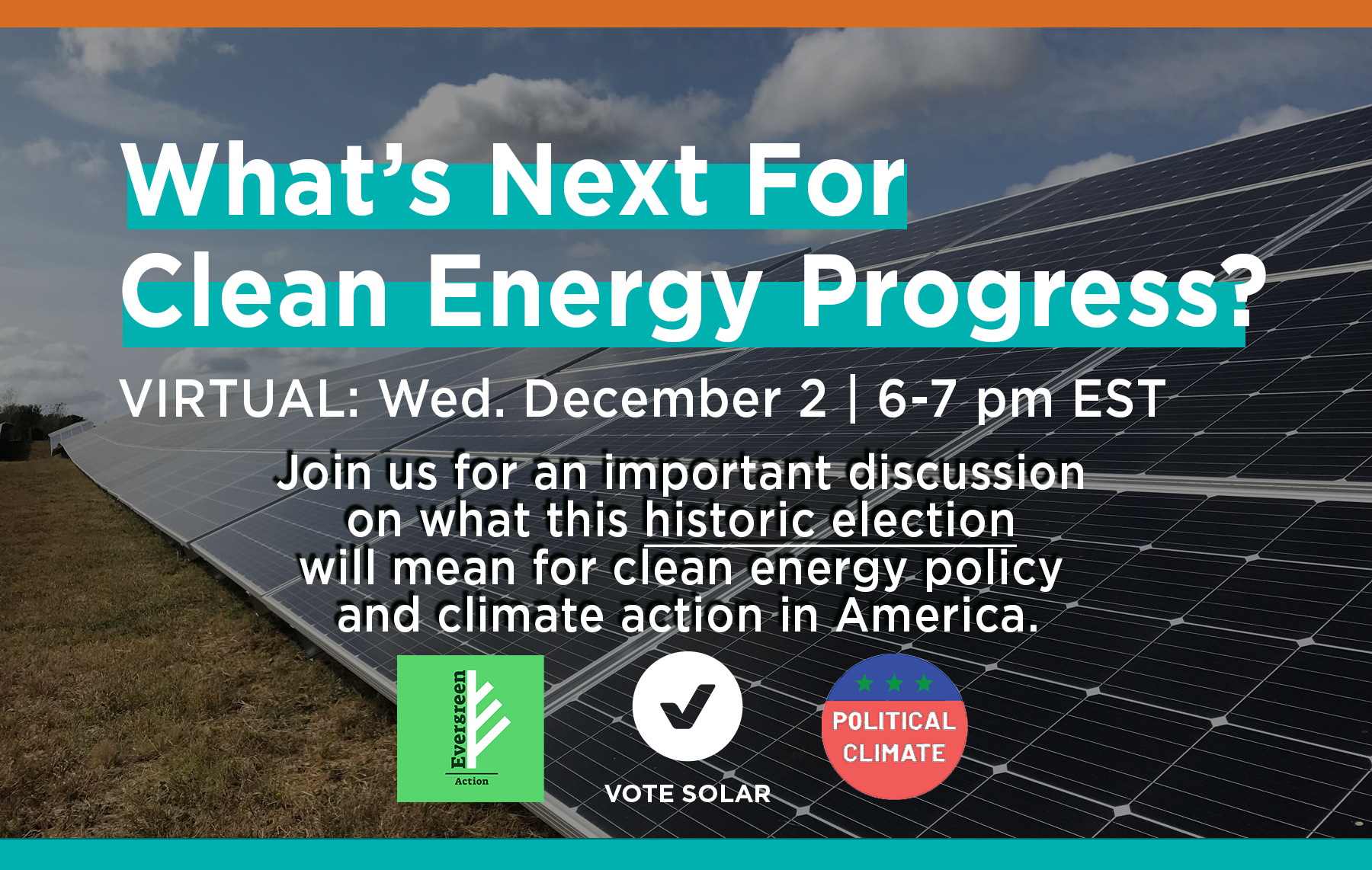 Save the Date: 12/2 What's Next For Clean Energy Progress?