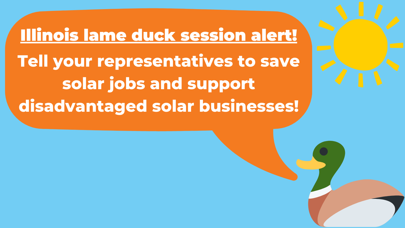 Illinois' Lame Duck Session is Opportunity to Save Solar, Invest Equitably