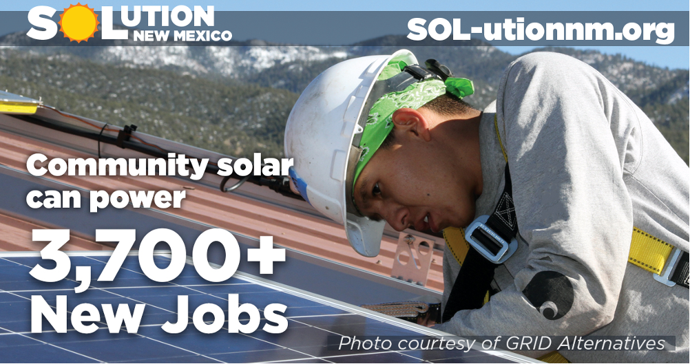 Community solar could bring 3,760 jobs and $517+ million in economic investment to New Mexico