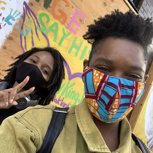 Brandy at Black Lives Matter Protest & Art Walk - June 2020 in Downtown, Oakland, CA