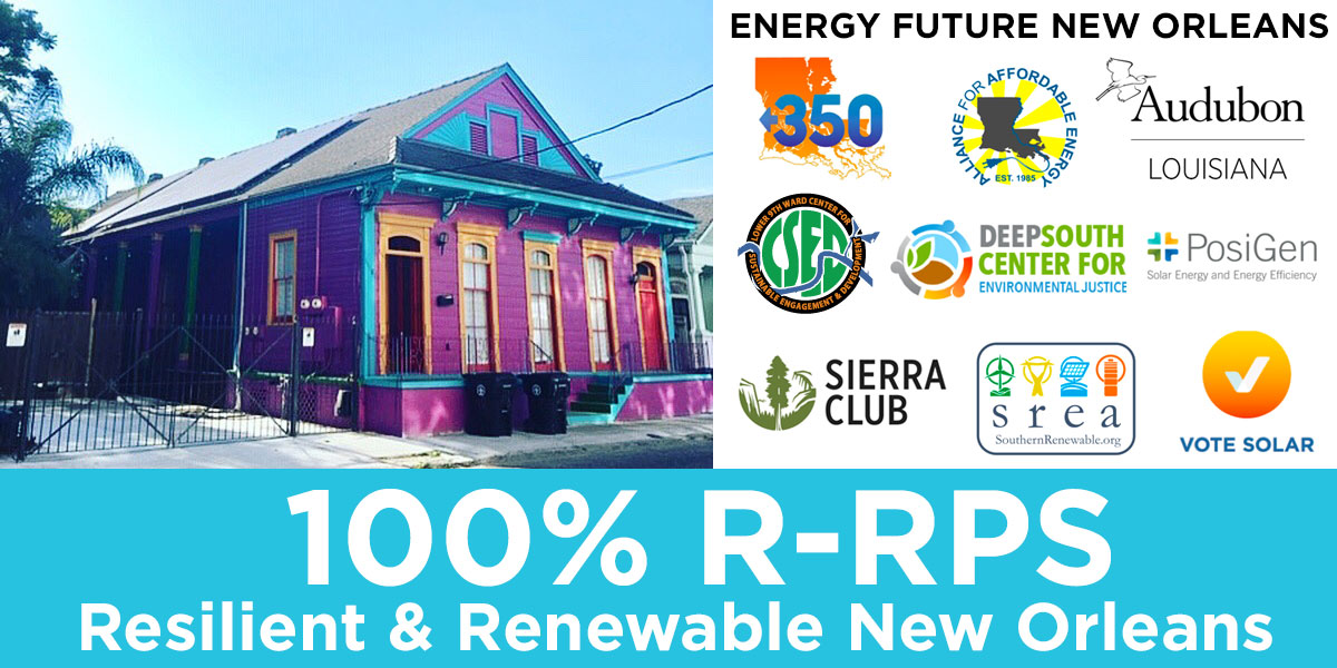A Community-Led Vision for New Orleans: The First 100% Renewable and Resilient Energy Plan Standard in the Gulf South