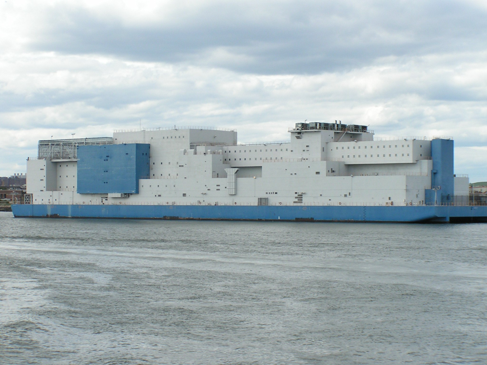 Boat at Rikers for Bail reform