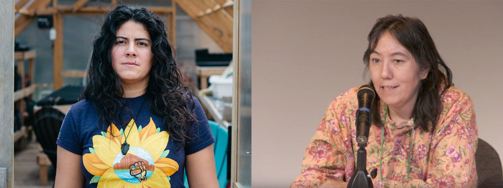 Left: Maria Lopez-Nunez. Credit: Earthjustice | Right: Rosemary Ahtuangaruak. Credit: Alaska Community Action on Toxics