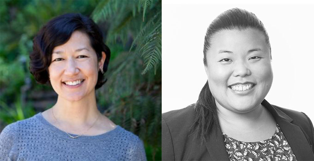 Miya Yoshitani, Executive Director of the Asian Pacific Environmental Network (left) and Kimi Narita, Senior Strategic Advisor, American Cities Climate Challenge at NRDC.