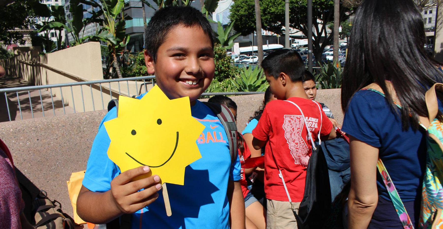 Florida solar schools student with sunshine
