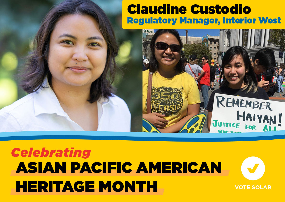 Celebrating Asian-Pacific American Heritage Month: Claudine Custodio - Regulatory Manager, Interior West