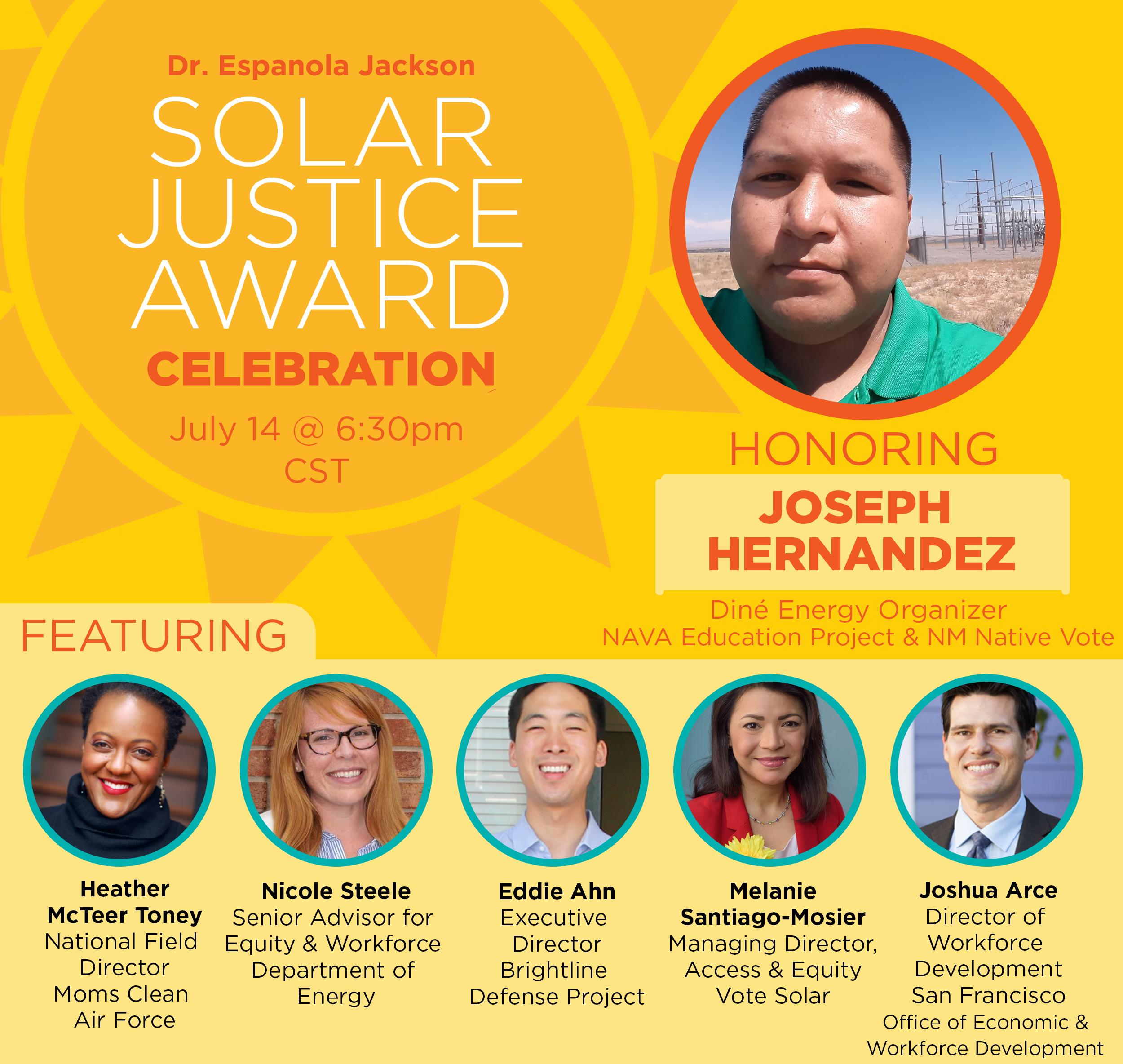 Solar Justice Award: Honoring Joseph Hernandez