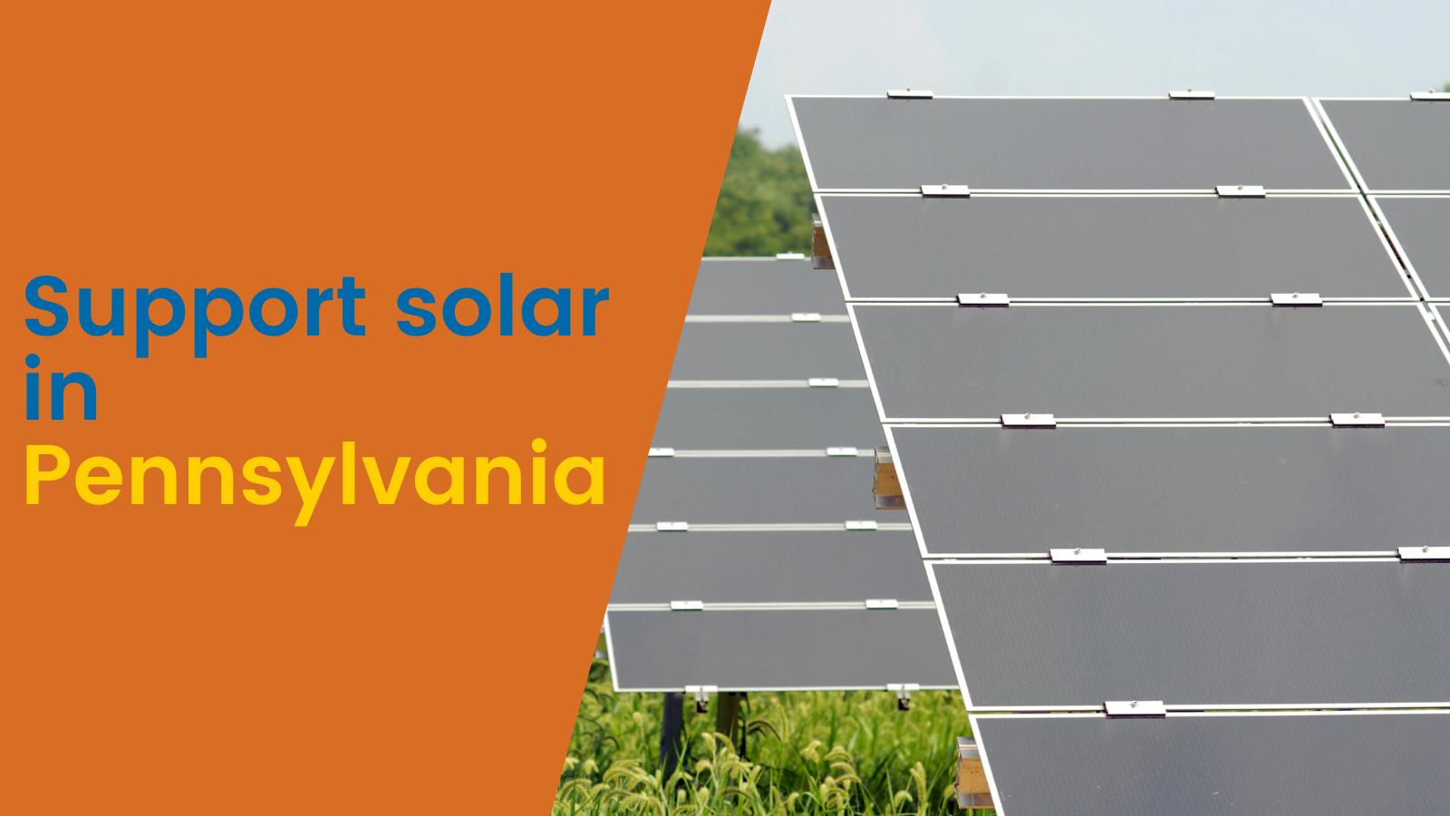 Bring Pennsylvania's renewable energy policies into the 21st century