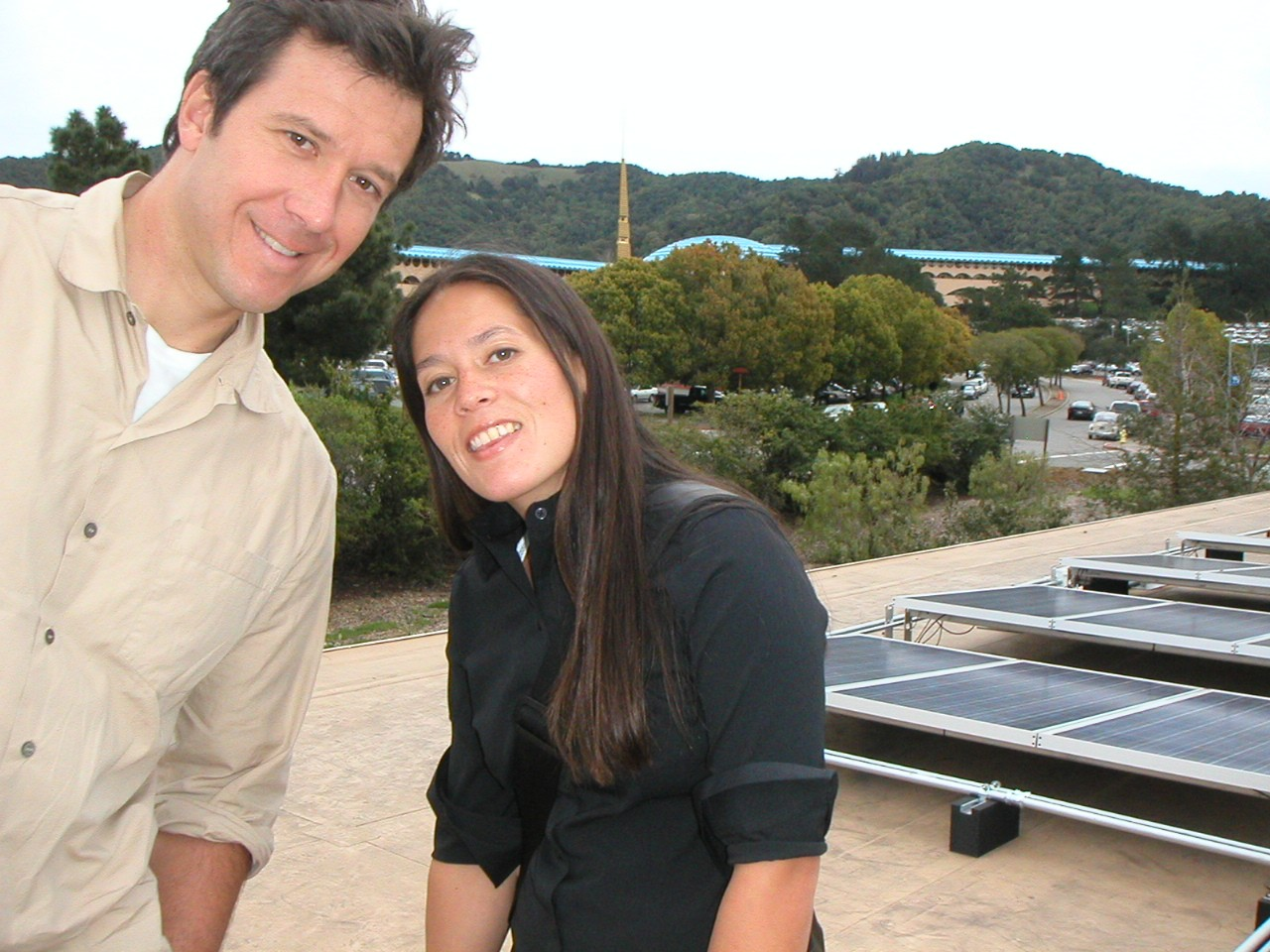Adam and Gwen Rose at the dedication for Marin Civic Center's solar system in 2004