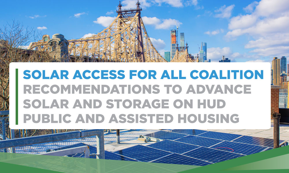 Recommendations to Advance Solar & Storage on HUD Public and Assisted Housing