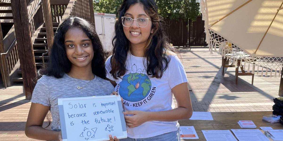 Youth climate advocates at Arizona event